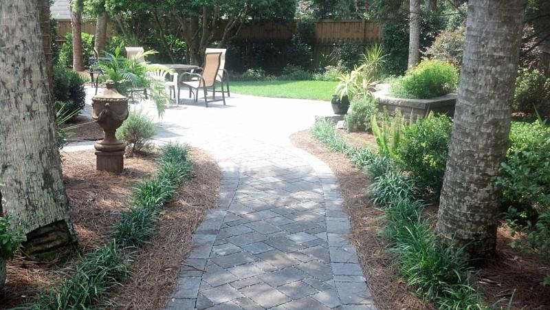 Paving stones landscape design james island south for Landscape renovations
